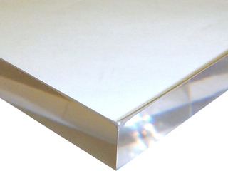 15x15cm 10mm Chapa Placa Acrílico Cristal