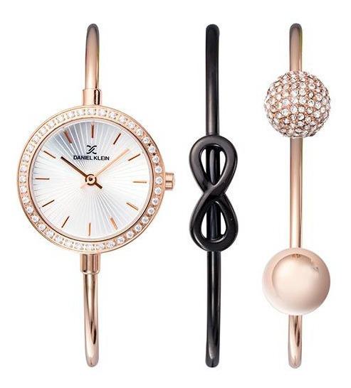 Relógio Analógico Daniel Klein Gift Set Dk11931-6 + Pulseira