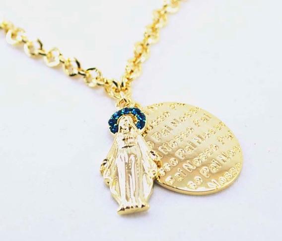 Pulseira Metal Medalhão Feminina Nossa Senhora Aparecida