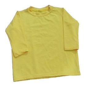 Kit Bebé 8 Camisas E 4 Calcinhas De Biquíni Uv Upf 50+