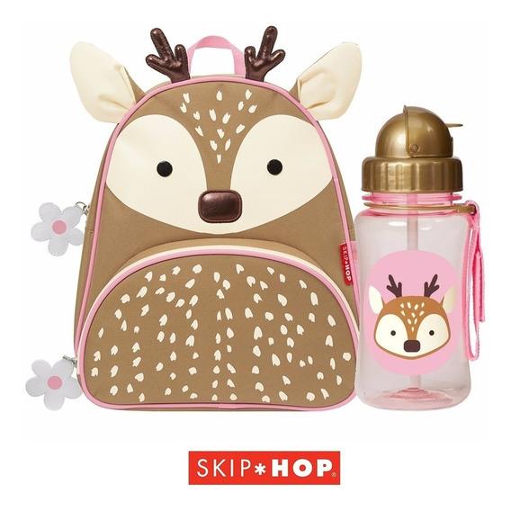 Mochila + Garrafinha Squeeze Rena Skip Hop ® Originais