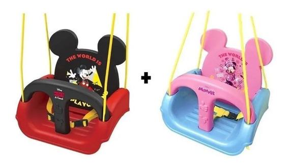 Kit 2 Balanços Minnie E Mickey Original Disney