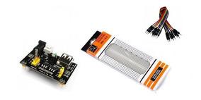 Kit Protoboard 830 Pontos+regulador De Tensão+40jumpers 20cm