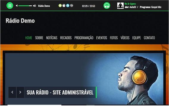 Site Web Rádio - Site Responsivo Com Hospedagem E Streaming