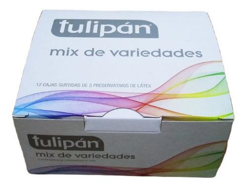 Imagen 1 de 3 de Tulipán Mix Preservativos Surtidos 12 Cajitas X 3