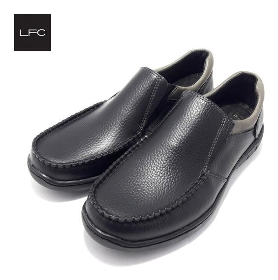 Zapato De Hombre Confort Elástico Cuero Legitimo (23/763)