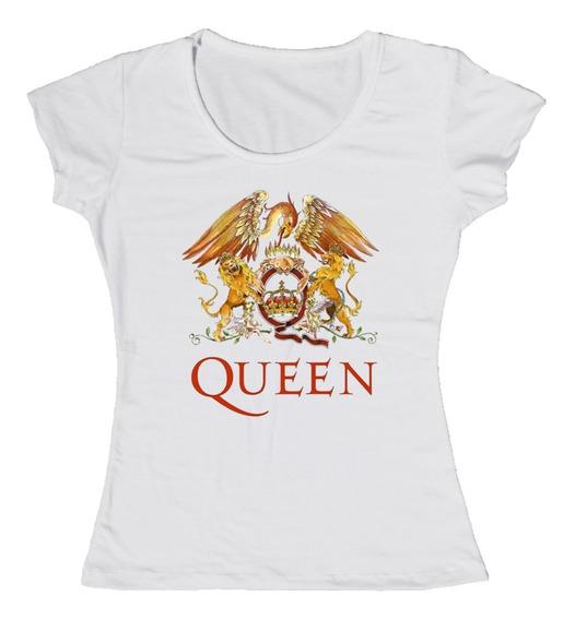 Remera Blanca Freddie Mercury Queen - Mujer