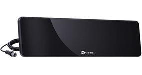 Antena Digital Para Tv Amplificada Preta Hds30a Vinik
