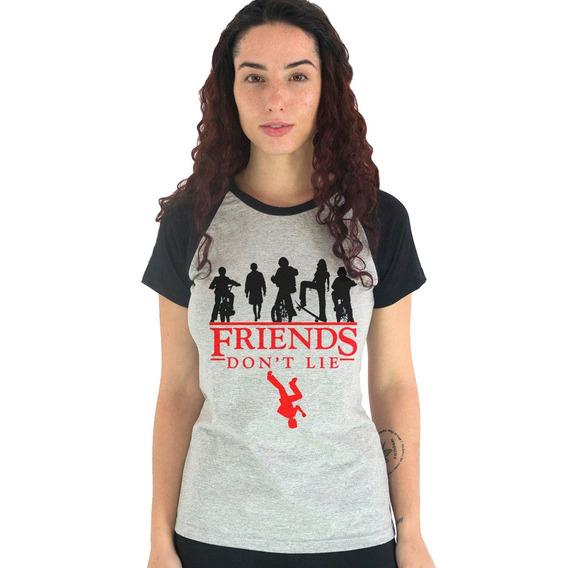 Camiseta Feminina Friends Dont Lie Stranger Things Tumblr