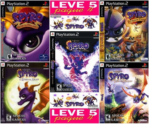 Coleção Spyro Ps2 (5 Dvds) Patch . Pague 4 Me