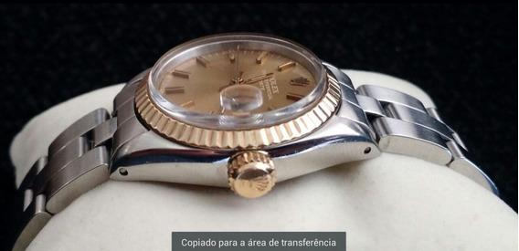 Relógio Rolex Dama Original Com Ouro