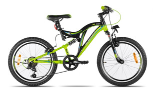 Bicicleta Juvenil Aurora Rodado 20 Doble Suspensión Shimano