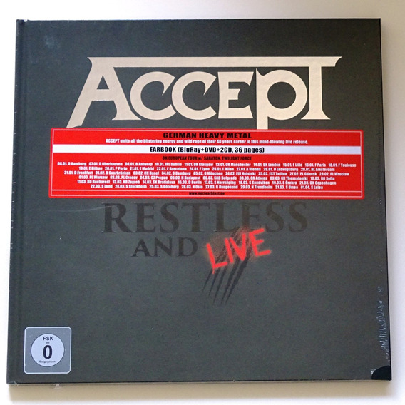 Earbook Accept - Restless And Live Blu-ray Dvd Cd Lacrado