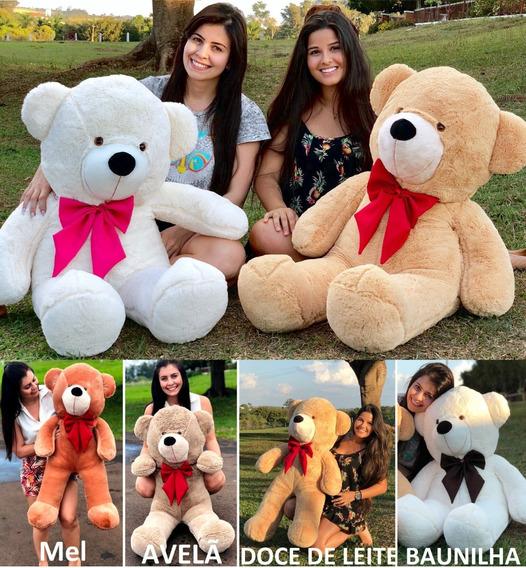Urso Gigante Grande Pelúcia Macio Teddy Bear 110cm Nacional