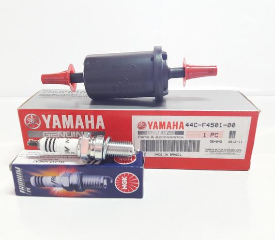 Filtro De Combustível + Vela Ignição Fazer 250 Original