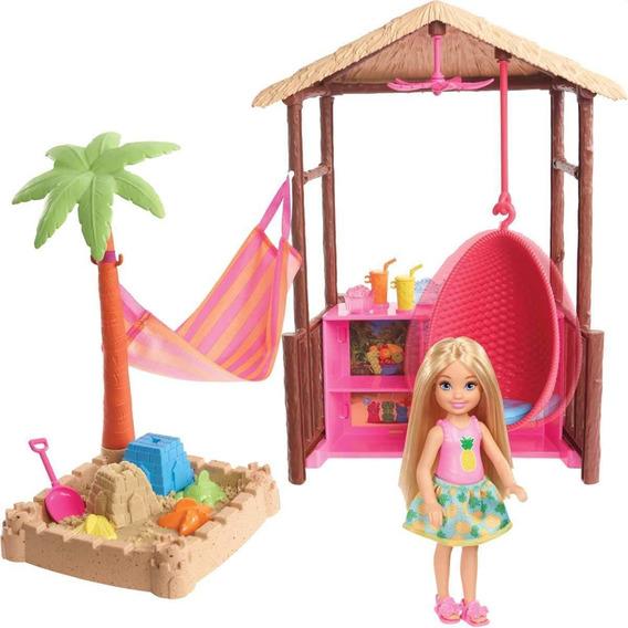 Kit Barbie Barraca De Praia Da Chelsea - Mattel Fwv24