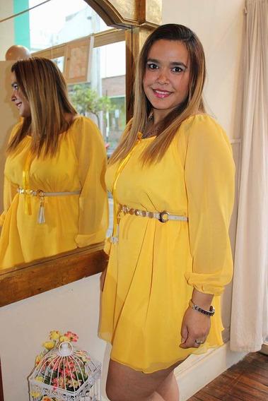 Vestido Talle Grande De Gasa Bobo Campesina Hasta 4xl