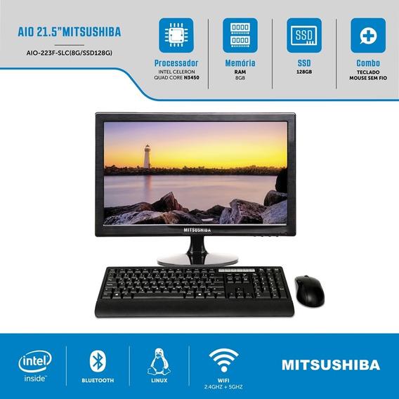 Computador All In One 21,5 Pol Quad N3450 8g Ssd128g Linux