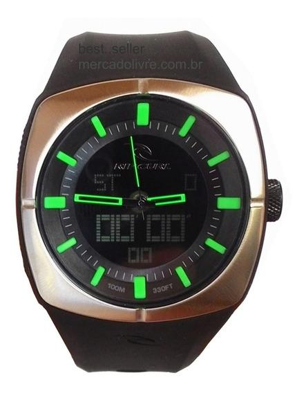 Relógio Rip Curl Havok Black Preto Verde A2759 Pivot Ana Dig