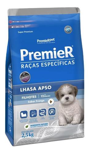 Ração Premier Cães Filhotes Raça Lhasa Apso Frango 2,5kg
