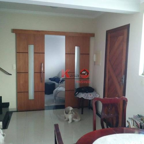 Sobrado Com 3 Dormitórios À Venda, 110 M² Por R$ 550.000,00 - Macuco - Santos/sp - So0339