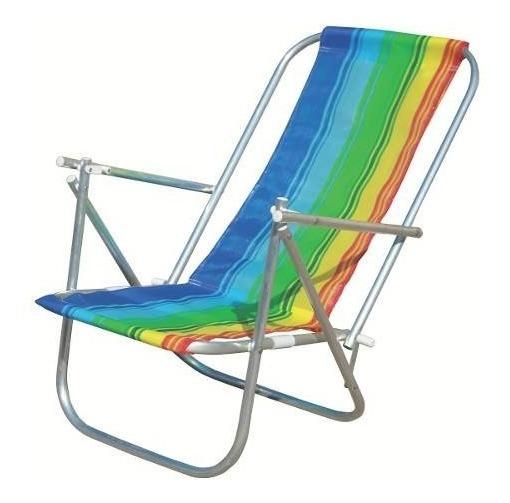 Cadeira De Praia 2 Posições Em Alumínio - Botafogo