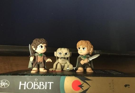 O Hobbit - Livro + Miniaturas Frodo, Sam E Golum