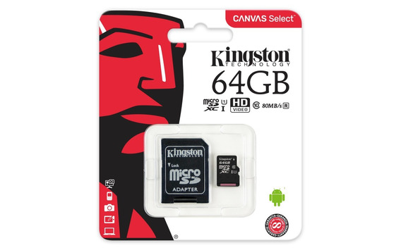 Kingston Memoria Micro Sd Hc I 64gb Clase 10 Ultra Mobile Canvas Select Original Mayoreo Garantia Celular Tablet