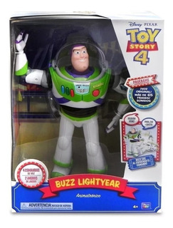 Muñeco Buzz Lightyear Toy Story 4 Cae Por Tu Voz Animatronic