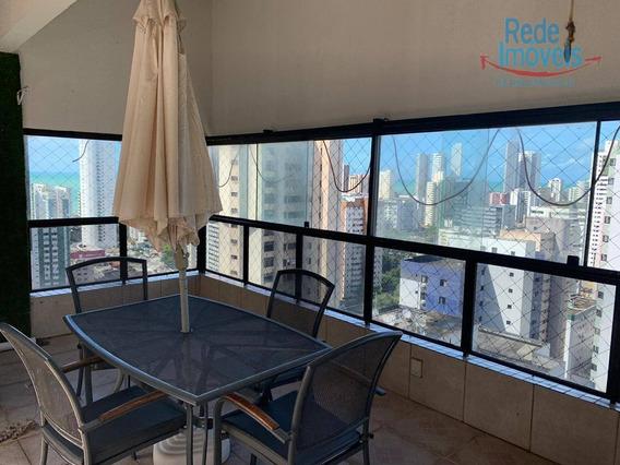 Cobertura Com 4 Dormitórios À Venda, 250 M² Por R$ 1.100.000 - Boa Viagem - Recife/pe - Ap10220