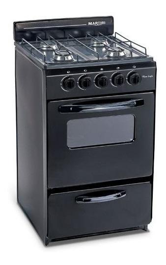 Cocina Martiri New Lujo Black 4 Hornallas, 51cm Gas Natural