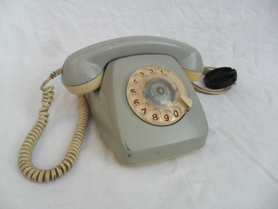 Antiguo Telefono Gris Retro Vintage Decoracion Entel