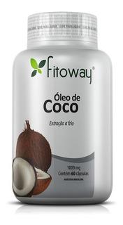 Óleo De Coco 1000mg - Fitoway - 60 Cápsulas