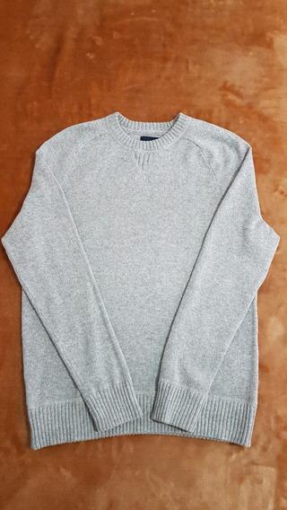 Sweater Casual. American Eagle. Gris Claro. Medium. Nuevo.