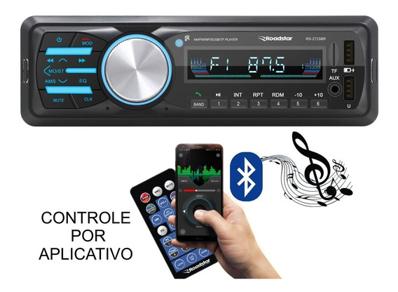 Som Automotivo Roadstar Rs-2715br Bluetooth Controle Remoto