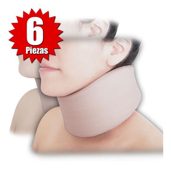 Collarín Cervical Adulto Bajo Beige (6 Piezas)
