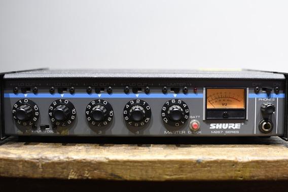 Mixer Shure M 267 Preamp Preamplificador Vintage 4 Canais