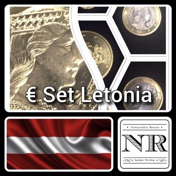 Letonia - Euro Set - Año 2014 - Km # Varios - 2 Bimetalicas