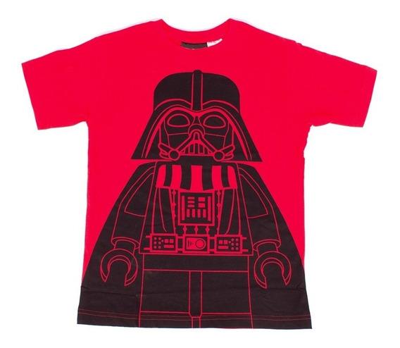 Playera Para Niño Lego Estampado Star Wars Red Darth Vader