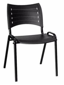 Combo 10 Cadeira Iso Preta Fixa 8 Cadeira Giratoria Secretar