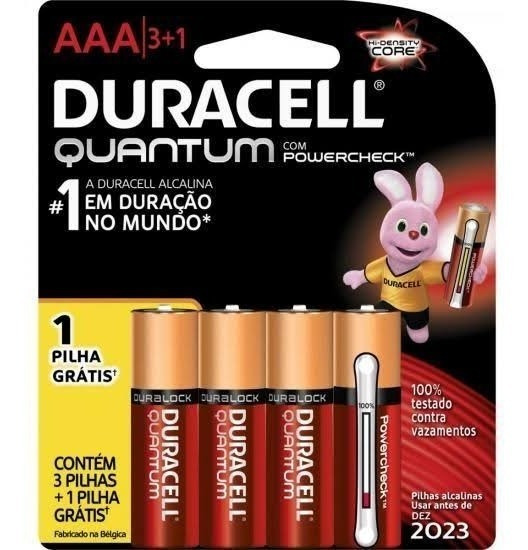 Kit Com 40 Pilhas Aaa Duracell Quantun + Brindes