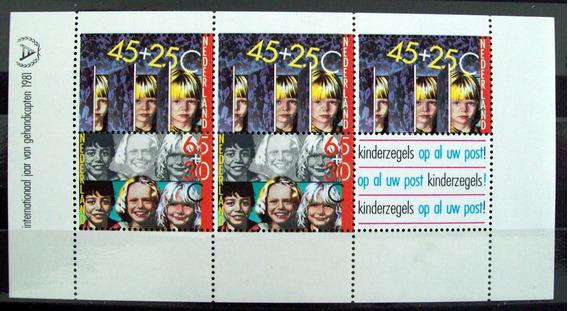Holanda, Bloque Sc. B576a Ayuda Infantil 1981 Mint L5997