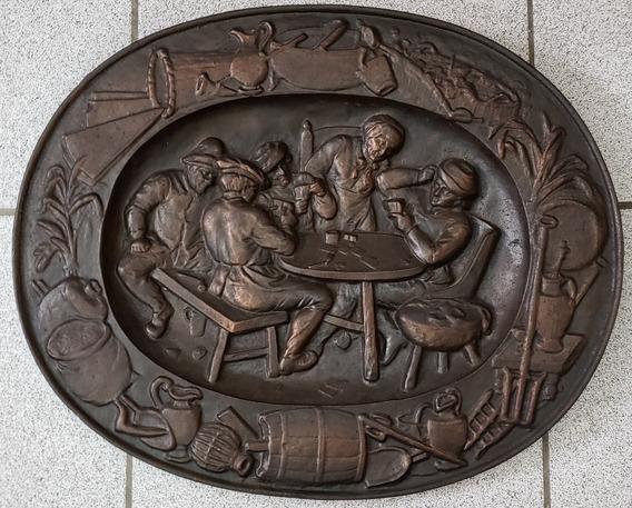 Medalhão Em Ferro- Jogatina -