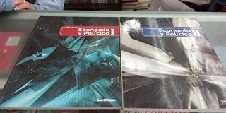 Libros Economia Y Politica 1 Y 2 Editorial Santillana