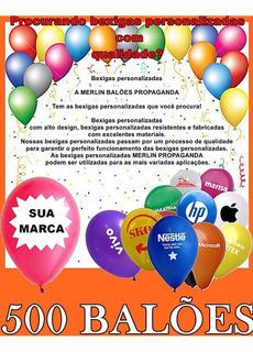 Balão N°9 Estampado Personalizado C/ Sua Logomarca 500 Unid