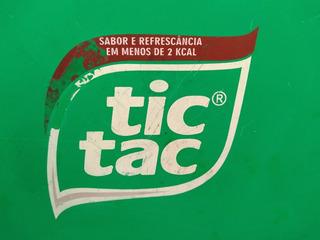 Placa Tic Tac Decoração - Tampa De Lata