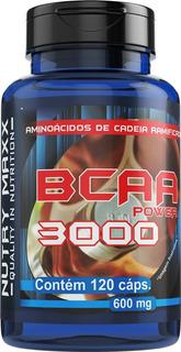 Bcaa Power 3000 - 600mg - 120 Cápsulas - Nutry Maxx