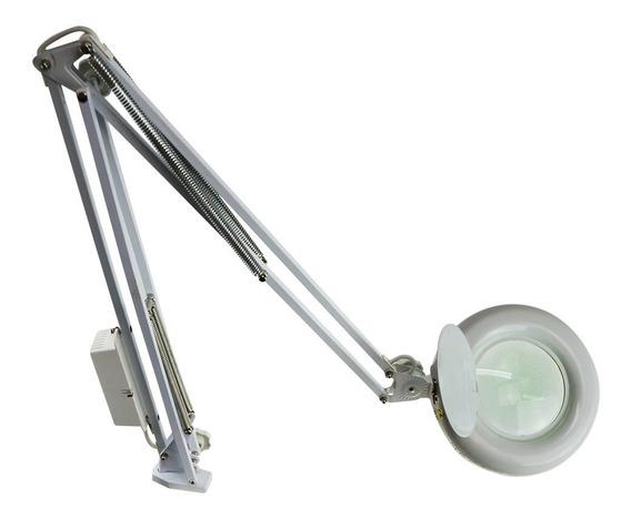 Lupa Luminária Estética 8x Bancada Articulada 110v Ou 220v