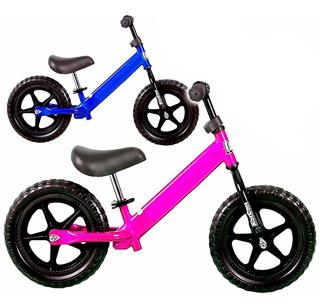 Bicicleta De Metal Sin Pedales P/ Niños Ruedas Goma - El Rey