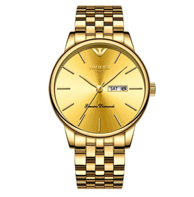 Relógio Nibosi Funcional Unissex Luxuoso Original Aço Inox
